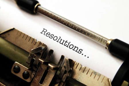 Resolutions on typewriter Stock Photo - 24387305