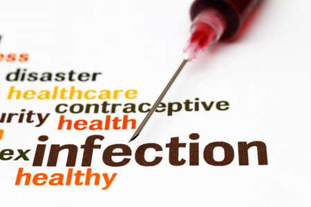 meningitis: Syringe and infection concept