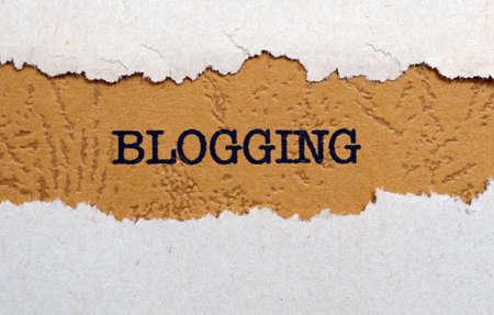 blogging: Blogging Stock Photo