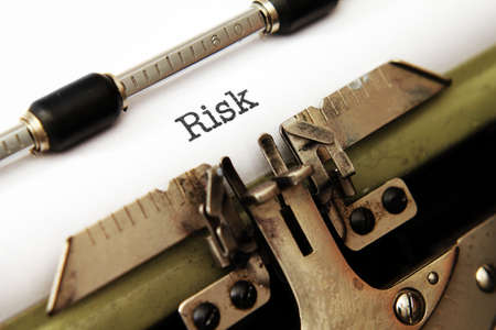 extortion: Risk text on typewriter Stock Photo