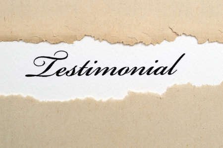 Testimonial Stock Photo - 24895111