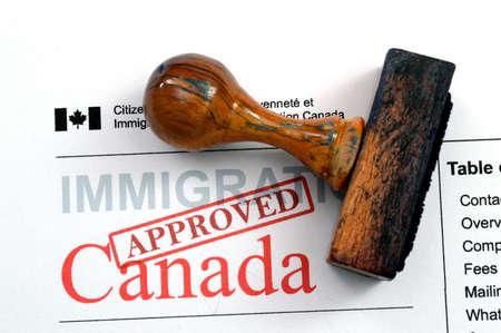 Immigration Canada - approuvé Banque d'images