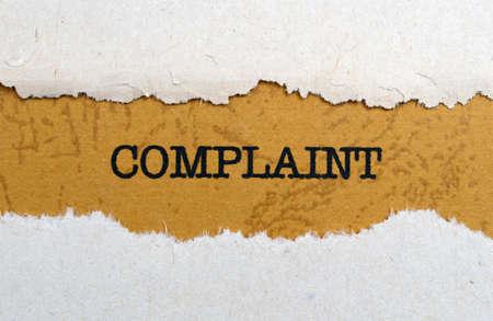 Complaint Stock Photo