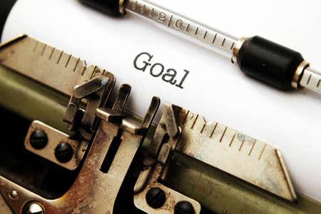 achievable: Goal text on typewriter