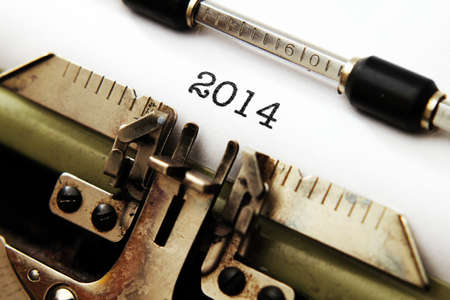 2014 text on typewriter photo