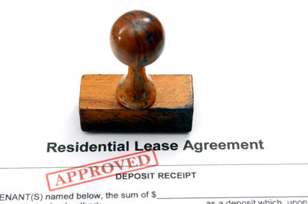Residential lease agreement photo