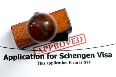 Solicitud de visado Schengen Foto de archivo