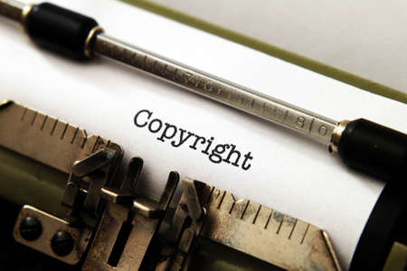 Copyright on typewriter Banque d'images