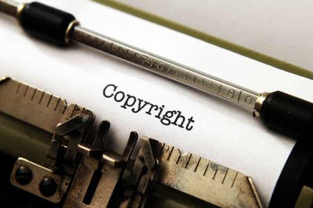 Copyright on typewriter Standard-Bild