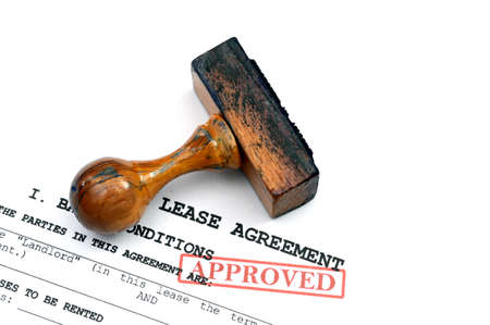 Lease agreement - approved photo