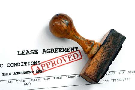 Lease agreement Stockfoto
