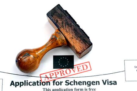Application for Schengen visa photo