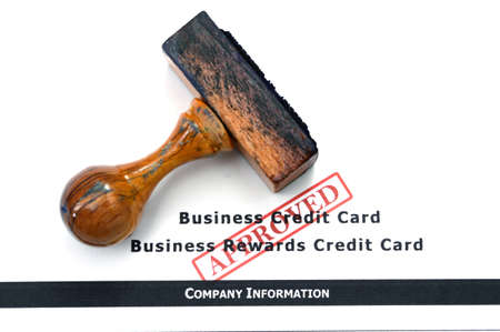 Business credit card - approved photo