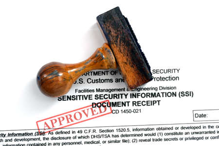Sensitive security information Stock Photo - 25362835