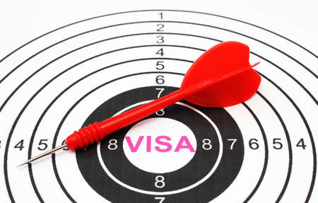 Visa target concept photo