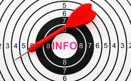 Info target concept photo