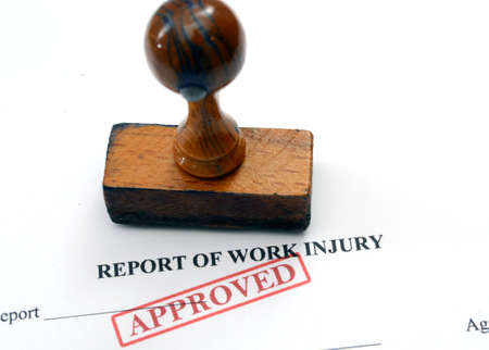 Report on work injury photo