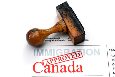Immigration Canada - approved Stockfoto