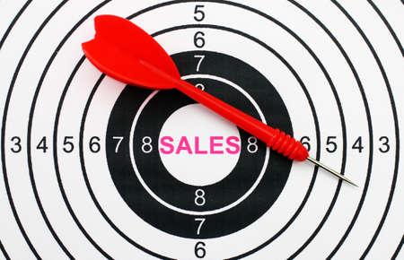Sales target concept photo