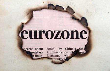 eurozone: Eurozone on paper hole