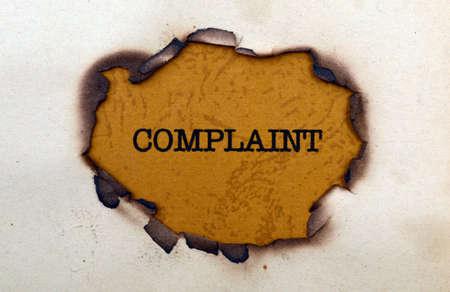Complaint photo