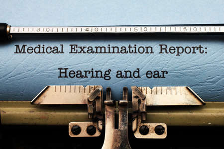 Medical report - hearing and ear photo