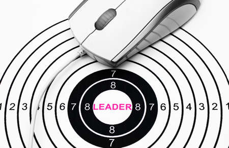 Leader target concept photo