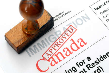 Immigration Canada Stockfoto