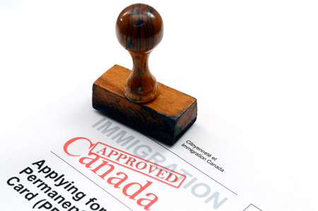 Immigration Canada Stock Photo