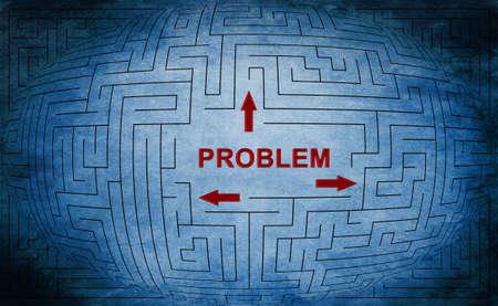Problem maze concept photo