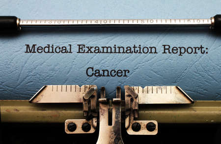 Cancer medical report photo
