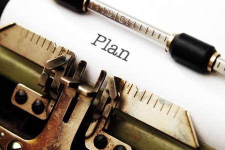 Plan concept photo