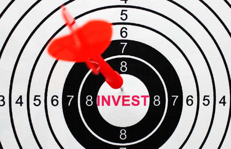 Invest target concept photo