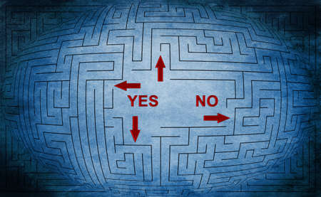 Yes or no maze concept