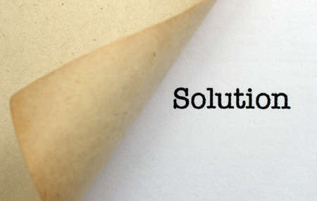 solution: Solution Stock Photo