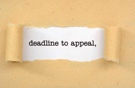 lawsuits: Deadline to appeal