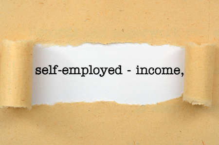 self employed: Self employed - income Stock Photo