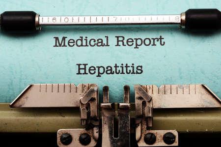 stool blood: Hepatitis Stock Photo