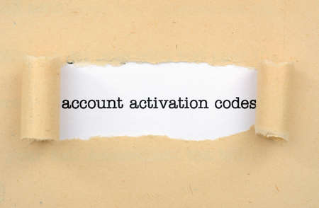activation: Account activation code Stock Photo