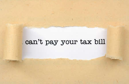 Can not pay tax bill photo