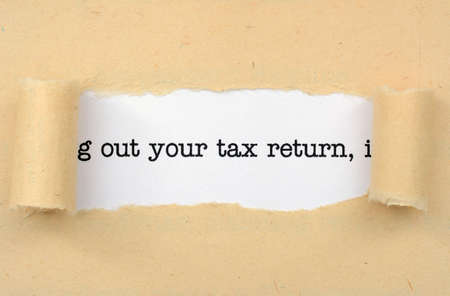 Tax return photo