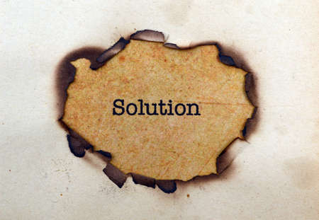 the solution: Solution Stock Photo