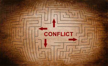 resolved: Conflict Stock Photo