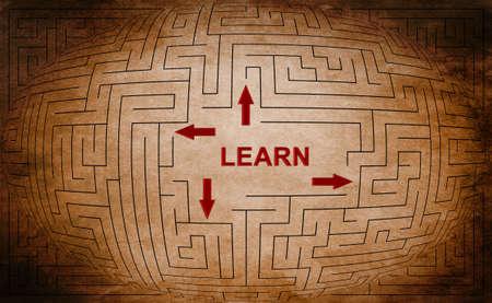 Learn maze concept photo