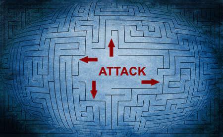 intruder: Attack maze concept