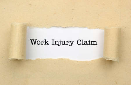Work injury claim photo