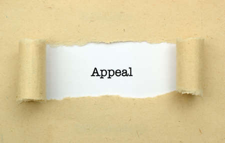 appeal: Appeal page concept Stock Photo