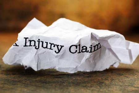 accident de travail: R�clamation de dommages Banque d'images