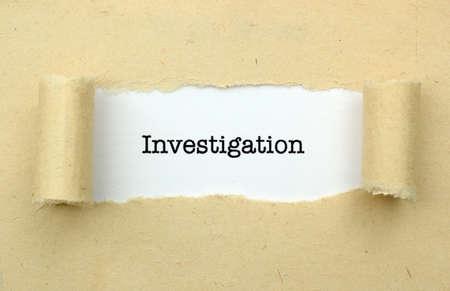 investigation: Investigation