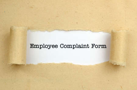 Employee complaint form photo